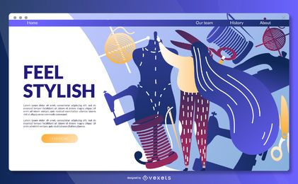 Feel stylish landing page template