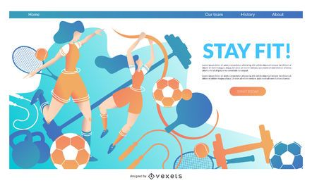 Sports landing page template