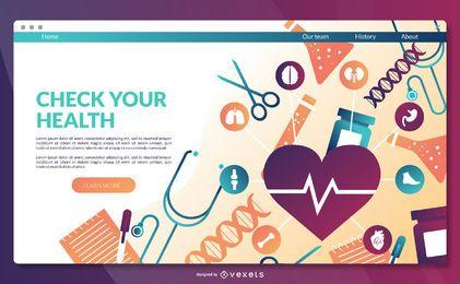 Modelo de página de destino de saúde