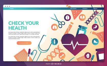 Health landing page template