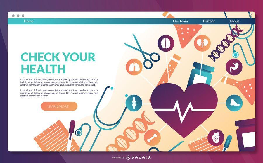 Gesundheit Landing Page-Vorlage