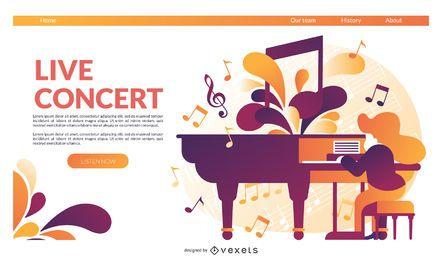 Live-Konzert-Landingpage-Vorlage