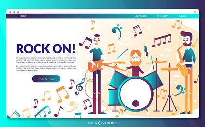Rock landing page template