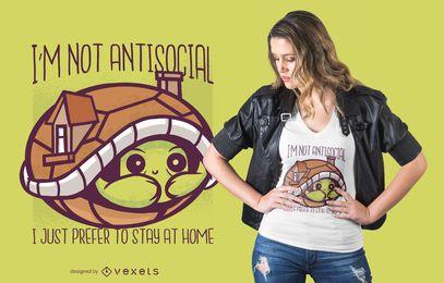 Design de t-shirt bonito citação de tartaruga