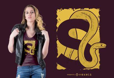 Diseño de camiseta de serpiente letra S