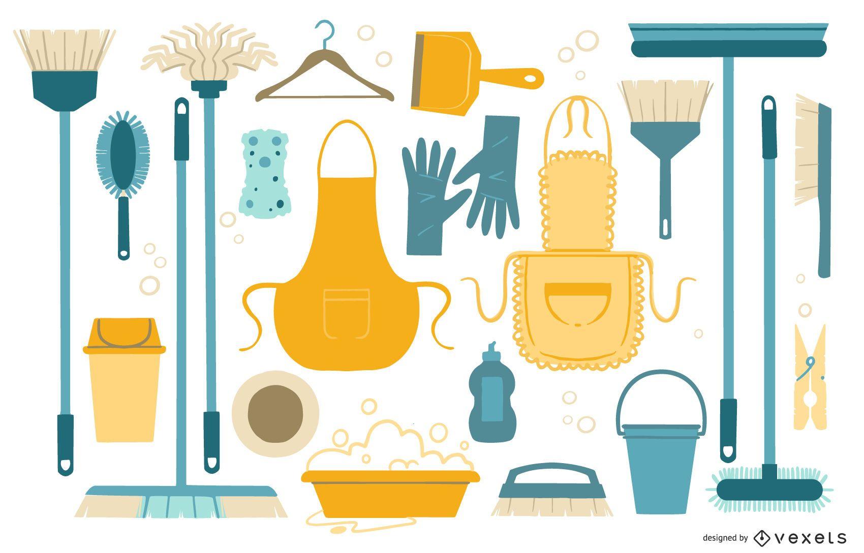 Colección plana de limpieza
