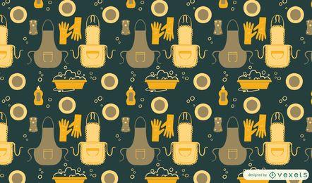 Geschirr spülen Musterdesign