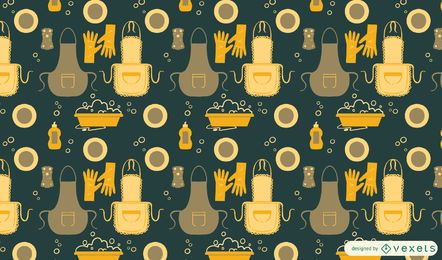 Washing dishes pattern design