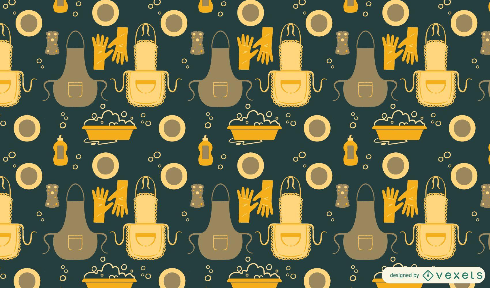 Washing dishes pattern design