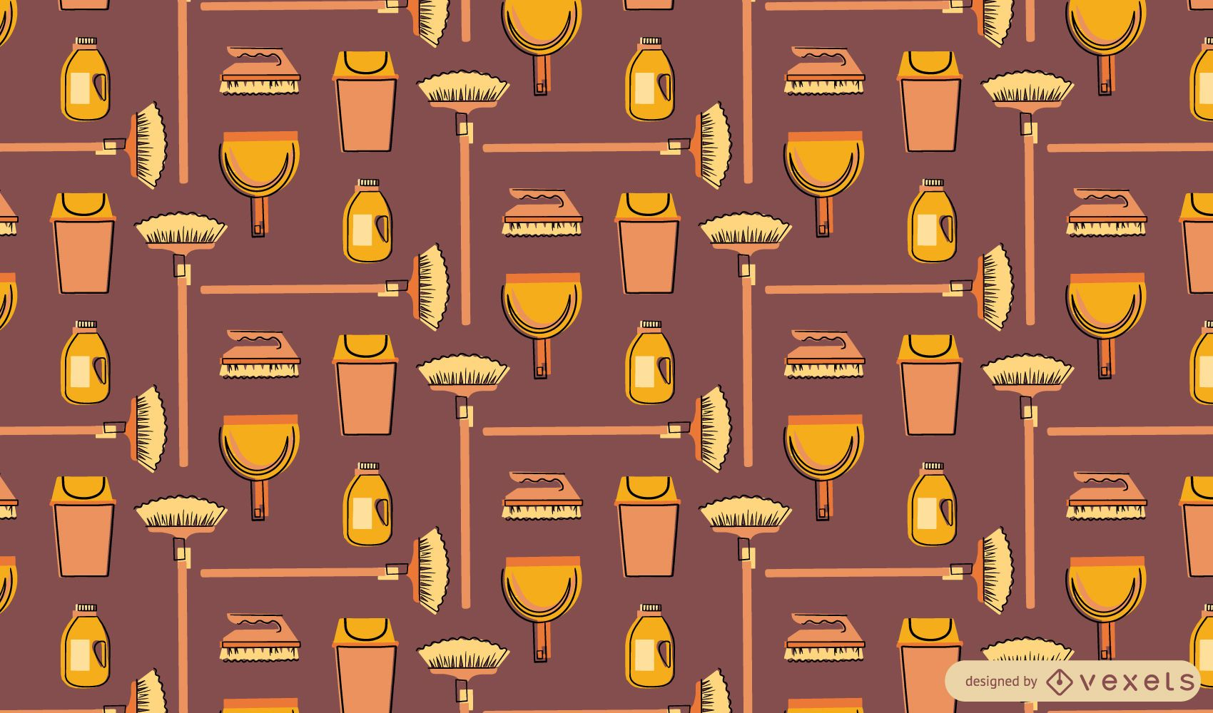 Cleaning elements pattern design