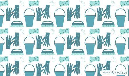 Diseño de patrón plano de limpieza