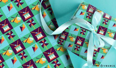 Diseño de patrón de colores de juguetes
