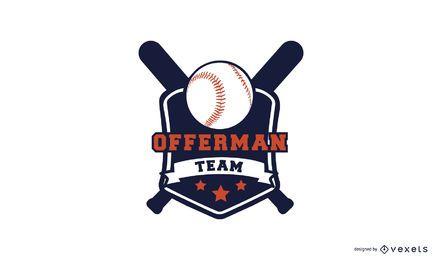 Plantilla de logo de beisbol