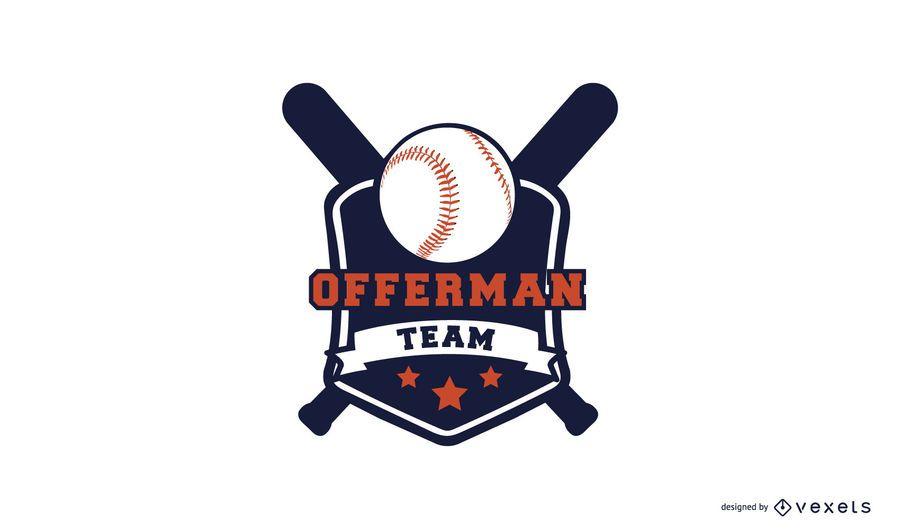 Modelo de logotipo de beisebol