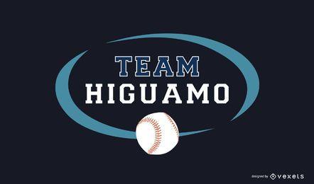 Plantilla de logotipo del equipo de béisbol