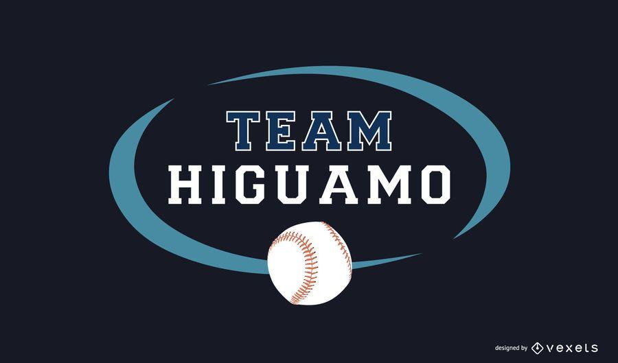 Modelo de logotipo de time de beisebol