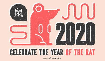 Chinesisches Neujahr 2020 Banner