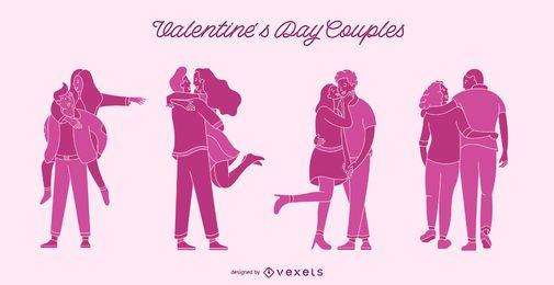 Conjunto de parejas de San Valentín