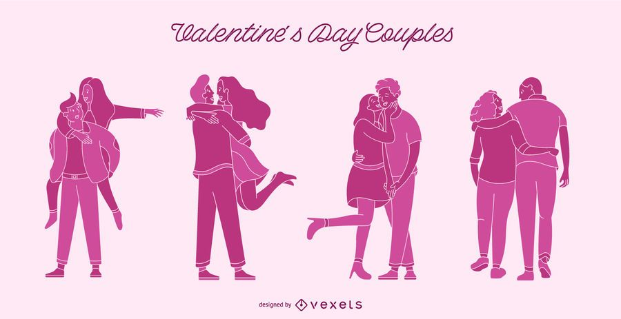 Valentine's day couples set