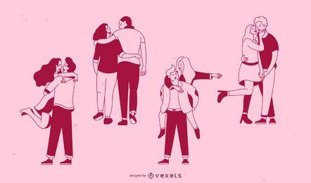 Valentinstag Schlaganfall Paare festgelegt