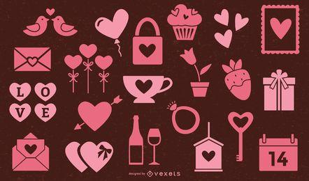 Valentinstag rosa Elementsammlung