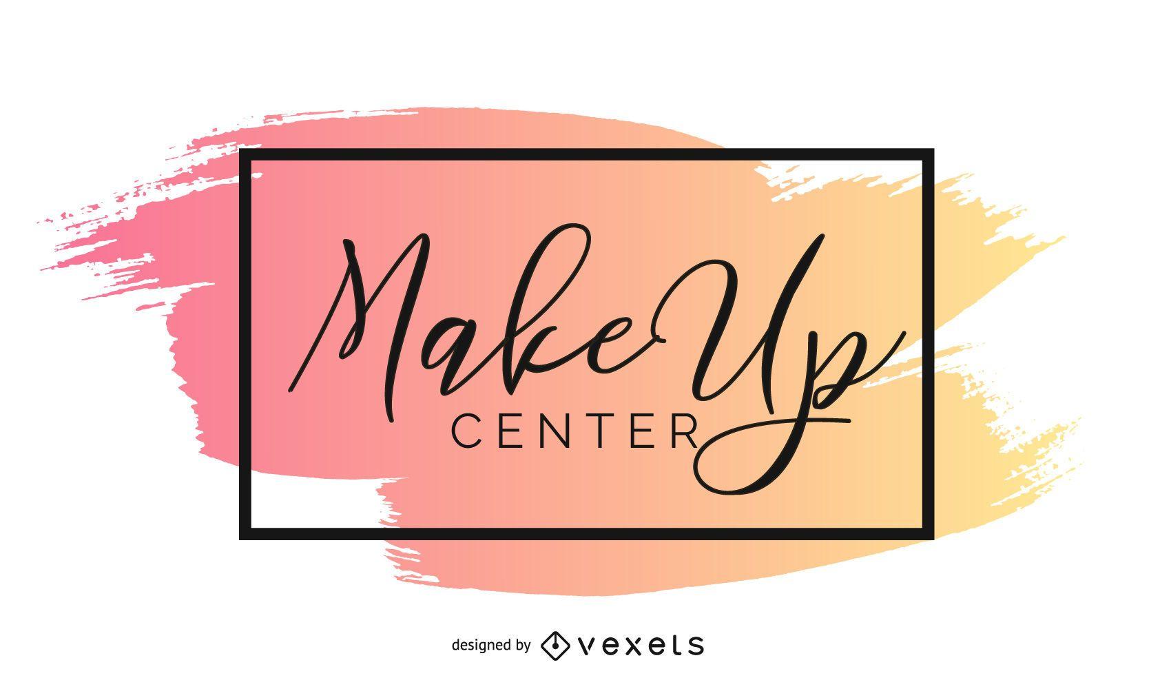Modelo de logotipo de maquiagem