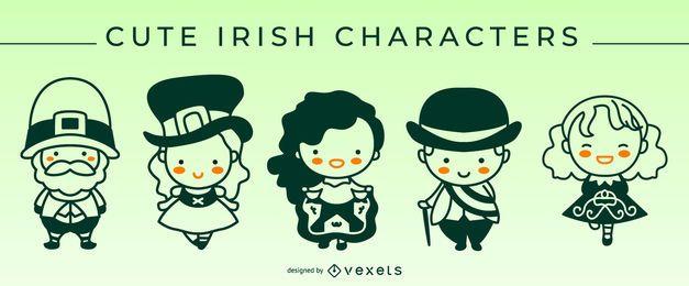 Conjunto de caracteres de trazo irlandés lindo