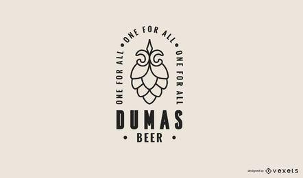 Plantilla de logotipo de cerveza dumas