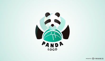 Modelo de logotipo moderno panda