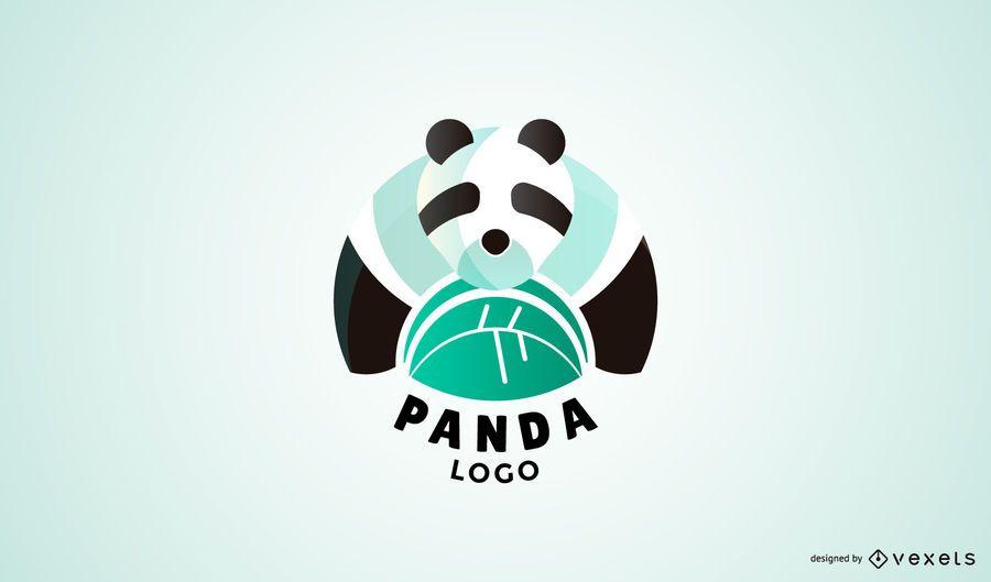 Plantilla de logotipo de panda moderno