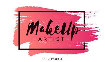 Diseño de banner de artista de maquillaje