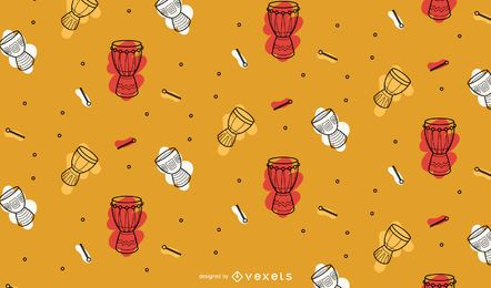 Desenho padrão de tambores Kwanzaa