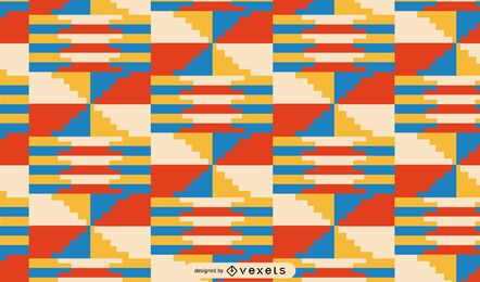 Desenho de padrão tribal colorido Kwanzaa