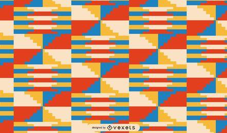 Design de padrão tribal colorido de Kwanzaa