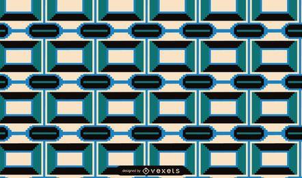 Desenho de padrão geométrico Kwanzaa