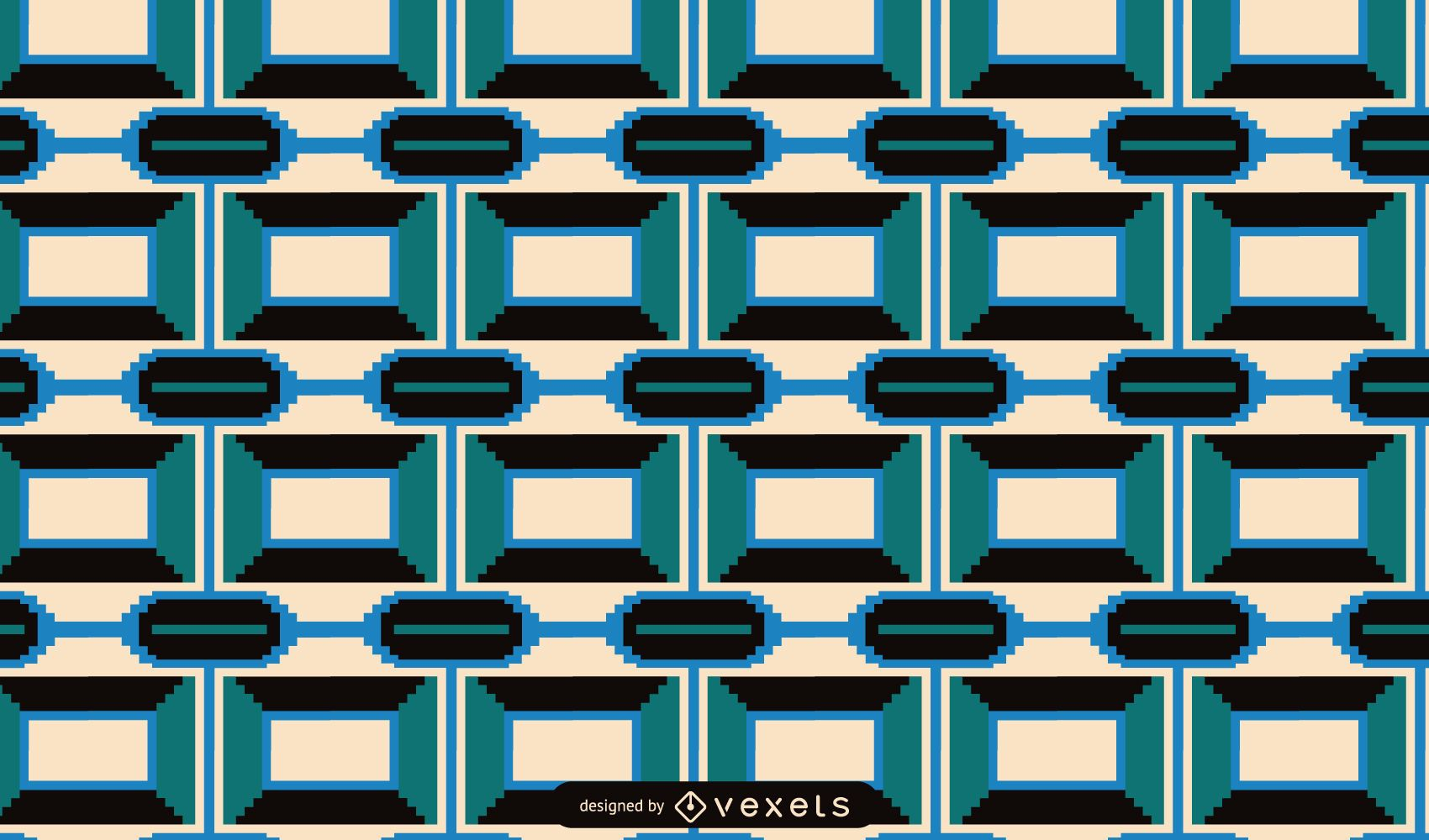 Kwanzaa geometric pattern design