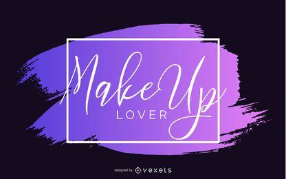 Diseño de banner de amante de maquillaje