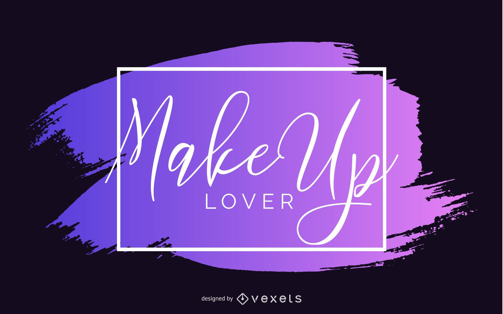 Diseño de banner de amante del maquillaje