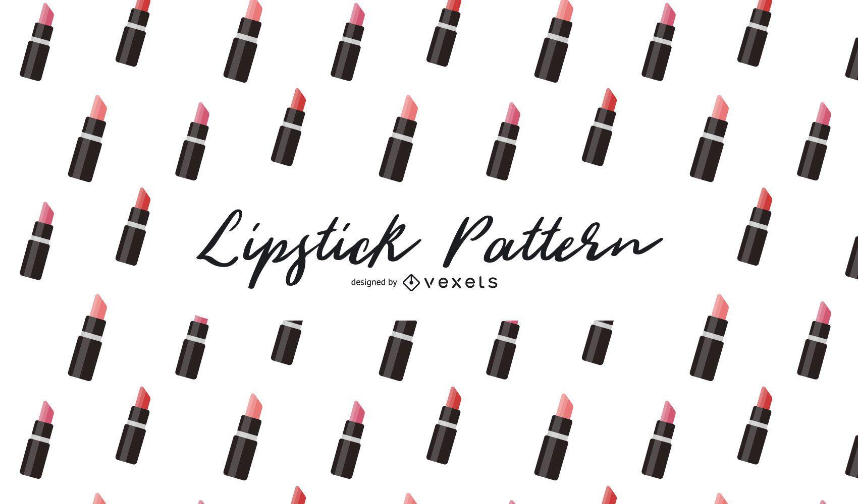 Diseño de patrón de lápiz labial