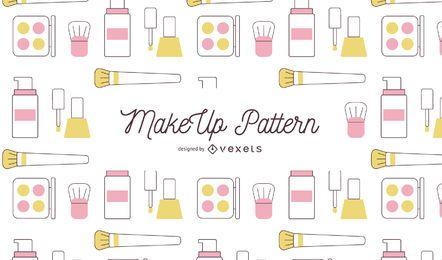 Design de padrão de traço de maquiagem