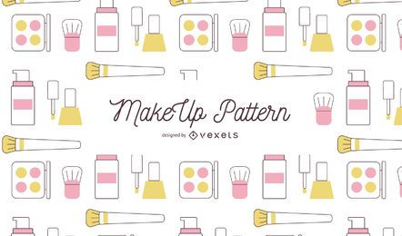 Makeup stroke pattern design
