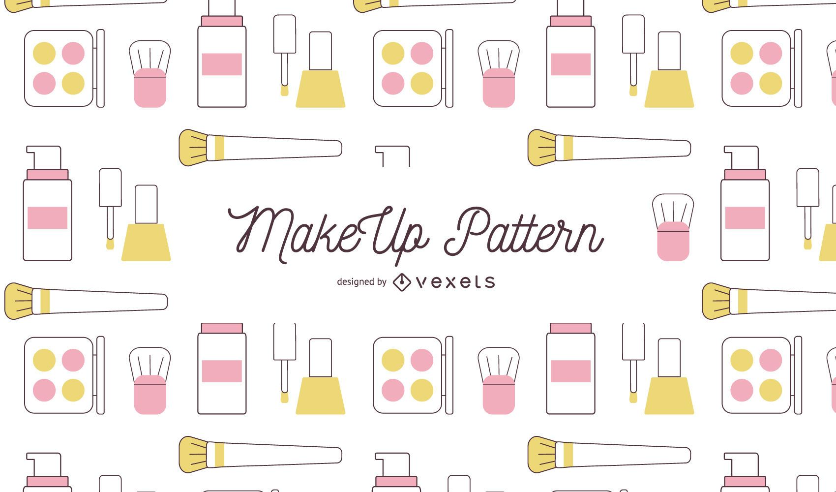 Makeup stroke pattern design