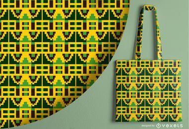 Desenho de padrão abstrato tribal