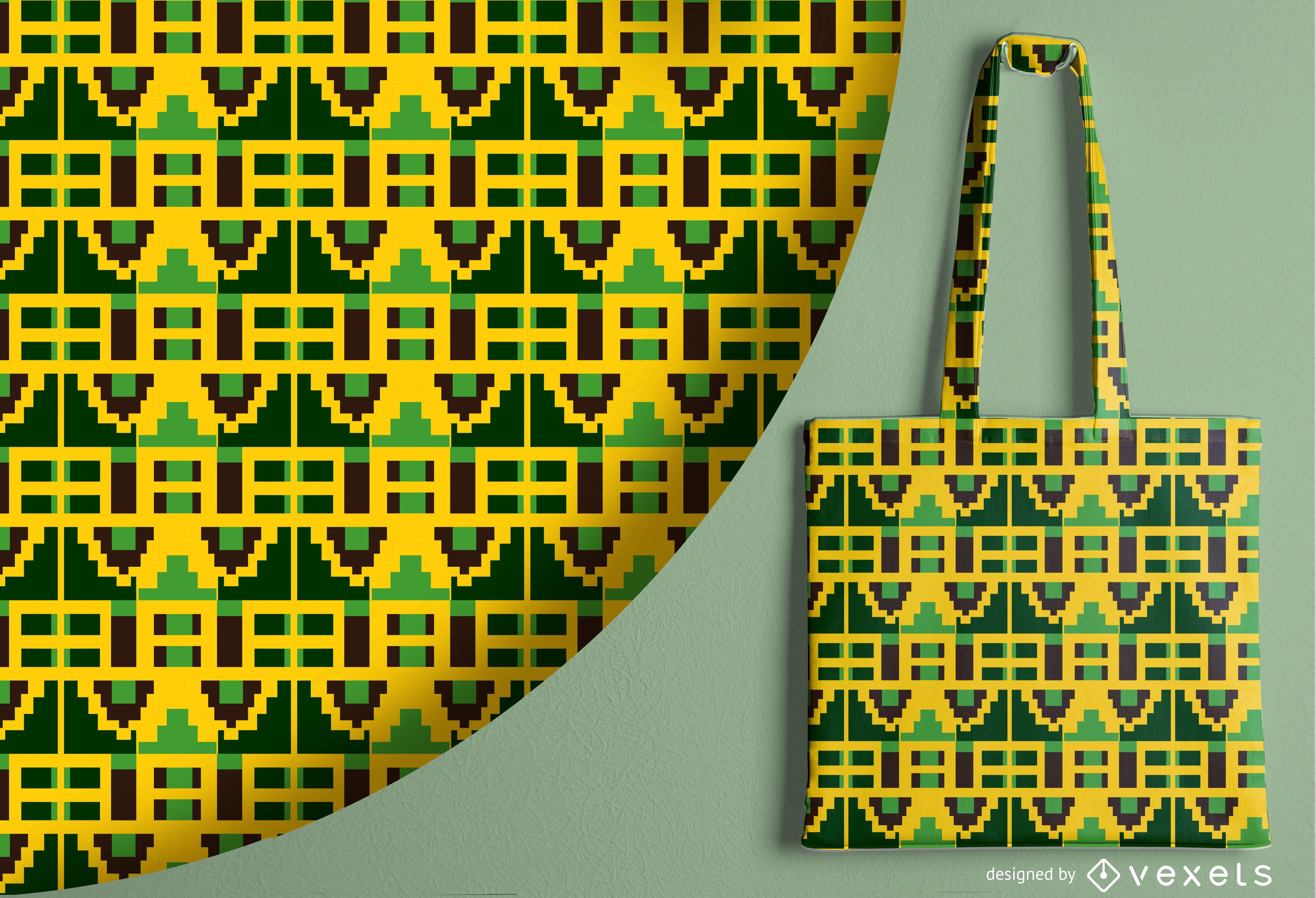 Diseño de patrón abstracto tribal
