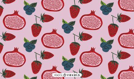 Design de padrão de frutas vermelhas