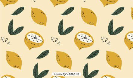 Zitronen Musterdesign