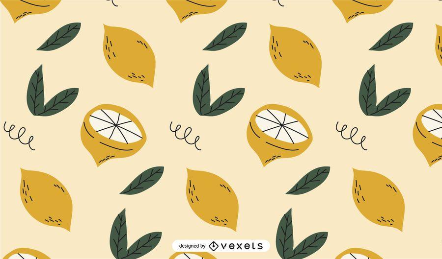 Lemons pattern design