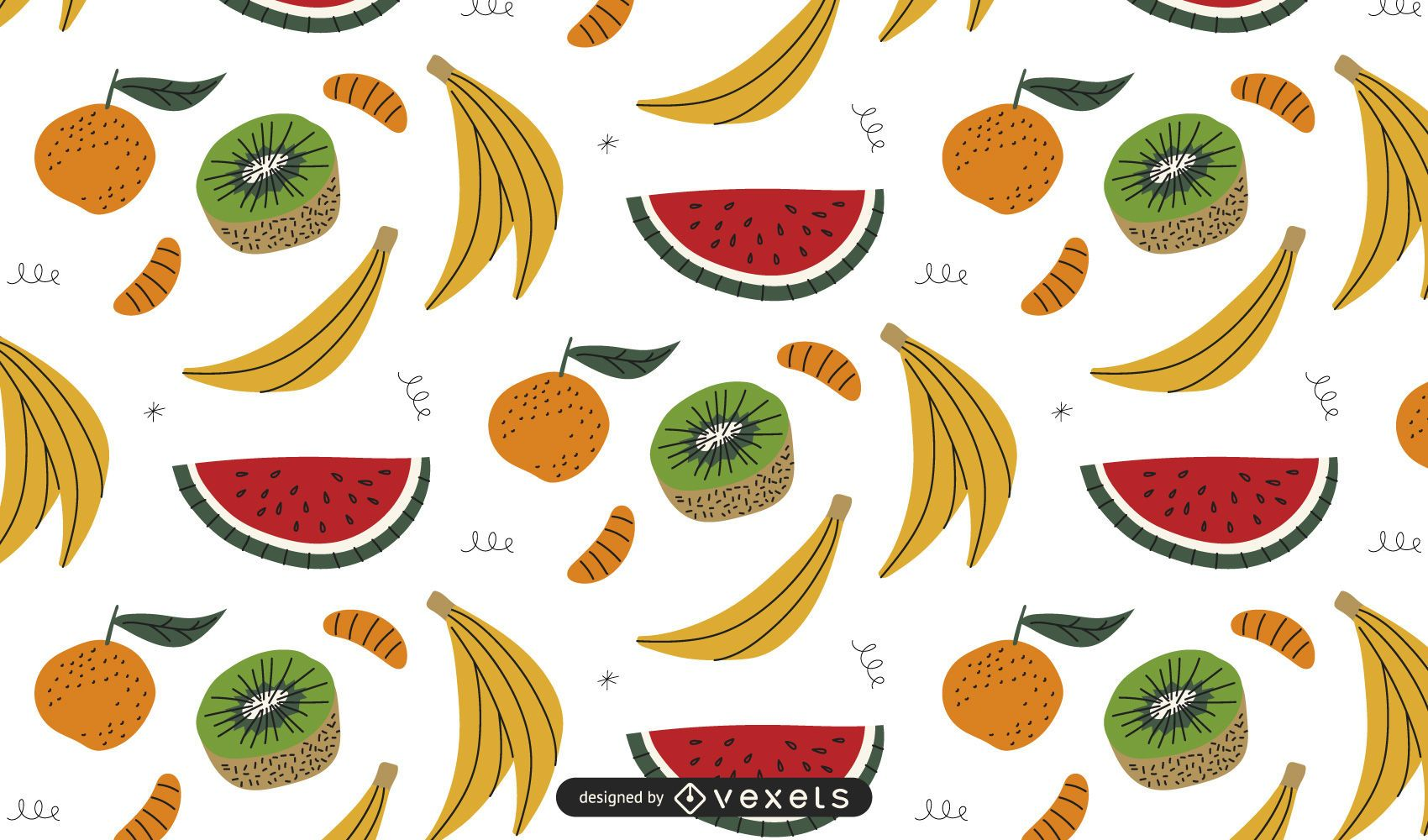 Colored fruits pattern design