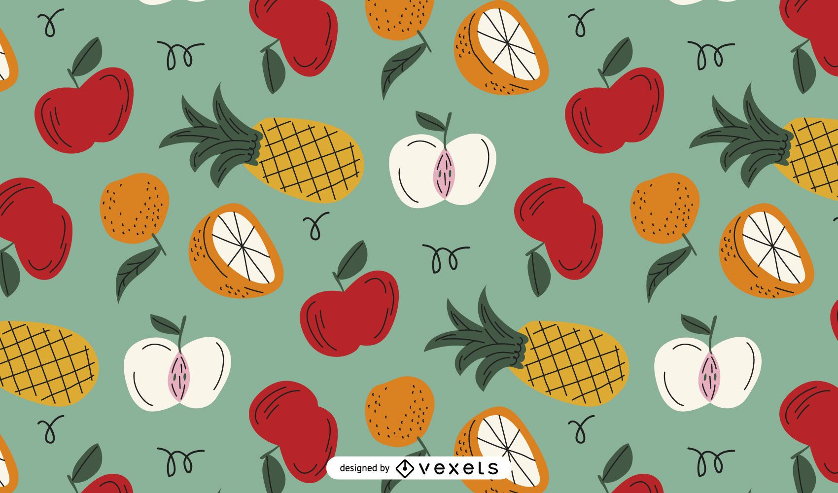Fruits colorful pattern design