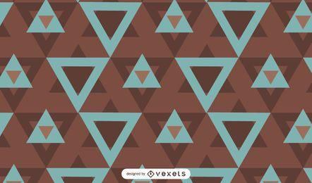Projeto de padrão geométrico de triângulos abstratos